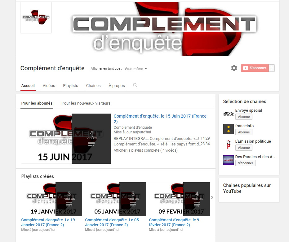 ftv youtube complement enquete f2rprod