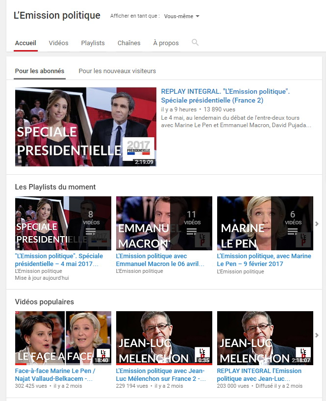 ftv youtube politique live f2rprod